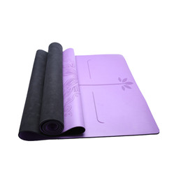PU yoga mat with carrying strap